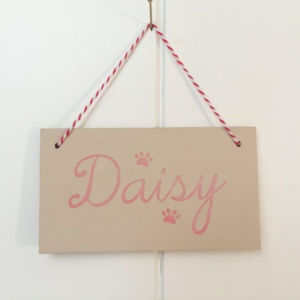Personalised Dog Gift Name Sign Paws