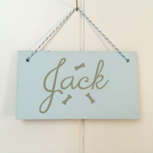 Personalised Dog Gift Name Sign Bones