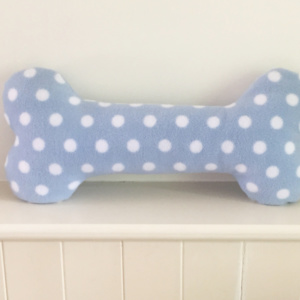 Dog Bone Cushion Blue Spot