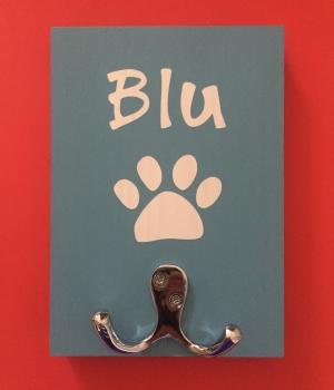 Personalised Dog Lead Holder - Blu