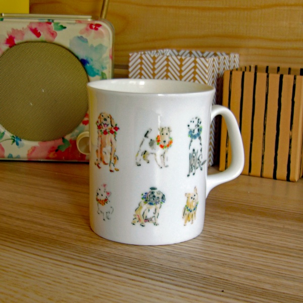 Dog Mug - Flower Garlands